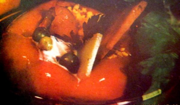 Коктейл с шунка в мариновани камби