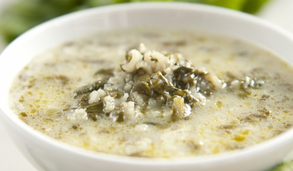 Спаначена супа с пармезан