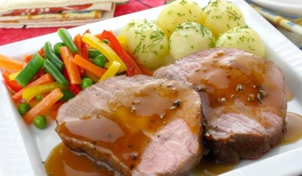 Свински пържоли със сос от горчица