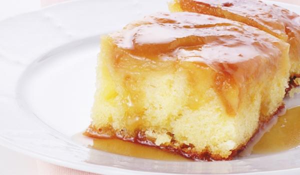 Торта с карамелов крем